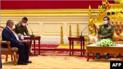 ASEAN envoys meet Myanmar junta leader (state-run TV)