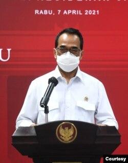 Menteri Perhubungan Budi Karya Sumadi mengatakan jutaan masyarakat akan mudik apabila pemerintah tidak melarang. (Biro Setpres)