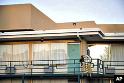 An assassin's bullet felled Martin Luther King Jr., on this balcony of the Lorraine Motel in Memphis, Tennessee, on April 4, 1968