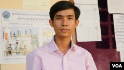 Chen Sokngeng, 26, will contest the Sala Kam Reuk for the Cambodia National Rescue Party (CNRP) ticket in the upcoming commune elections, Siem Reap, Cambodia, Monday May 1, 2017 . (Sun Narin/VOA Khmer)