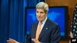 Državni sekretar Džon Keri predstavlja izveštaj Stejt departnmenta o stanju ljudskih prava u svetu u 2014., 25. juna 2015.
