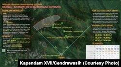 Infografis Operasi Pencarian Helikopter TNI AD yang hilang kontak di Oksibil, Papua, pada Jumat (28/6). (Foto: Kapendam XVII/Cendrawasih)