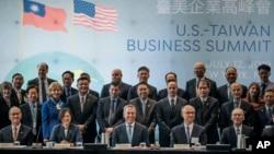台湾总统蔡英文2019年7月12日在纽约参加美国台湾商业峰会。