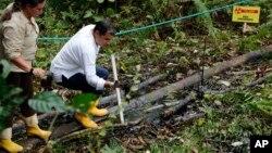 El presidente Rafael Correa acusó a la petrolera estadounidense de provocar daños irreparables a la Amazonía de su país.