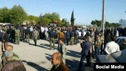 تجمع کارگران شرکت نکاچوب در مازندران