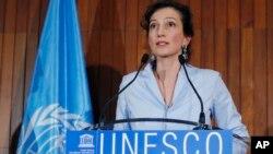 Audrey Azoulay, directrice de l'Unesco, à Paris, le 13 octobre 2017.