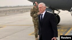U.S. Defense Secretary Jim Mattis lands in Kabul. (March 13, 2018.)