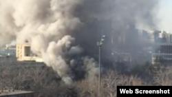 北京交通大学一间实验室2018年12月26日发生爆炸并引起火灾。 (网络截图)