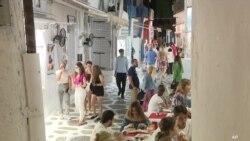 Mikonos'ta Sokağa Çıkma ve Müzik Yasağı