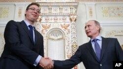 Premijer Srbije Aleksandar Vučić prilikom nedavnog susreta sa ruskim predsednikom Vladimirom Putinom u Moskvi