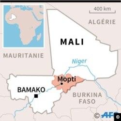 Carte du Mali localisant la région de Mopti