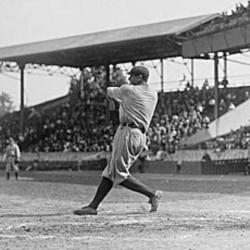 Babe Ruth batting in 1920