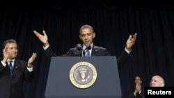 U.S. President Barack Obama speaks as he attends the National Prayer Breakfast in Washington, Feb. 4, 2016