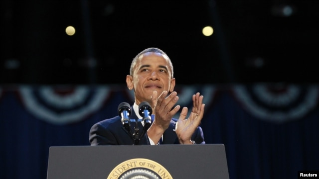 Tổng thống Obama phát biểu trước các ủng hộ viên sau khi tái đắc cử nhiệm kỳ 2.