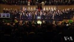 George W. Bush se lâche et danse lors de l'hommage aux policiers tués à Dallas (vidéo)