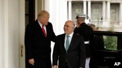 Presidente americano Donald Trump,recebe Haider al-Abadi na Casa Branca