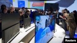 تلویزیون های با کیفیت فوق وضوح به پدیده ای عادی در این نمایشگاه تبدیل شده اند