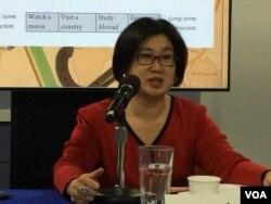 威尔逊国际学者中心研究员吴慧枫博士(美国之音莉雅拍摄)
