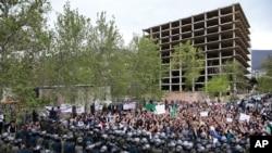 تجمع اعتراضی مقابل سفارت عربستان در تهران