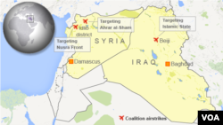 Coalition airstrikes in Iraq and Syria