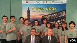 台湾参加美国国际志工行动协会年会成员合照 (美国之音钟辰芳拍摄)