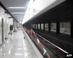 地铁世博专线的一个车站