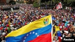 وینزویلا میں صدر نکولس مدورو کی حکومت کے خلاف احتجاجی مظاہرہ۔ 24 جنوری 2019