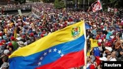 Manifestasyon anti-gouvènmantal nan Karakas.