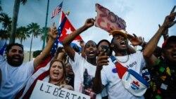 古巴發生罕見的抗議活動之際 拜登對古巴人民表示支持