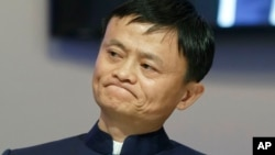 Ông Jack Ma, sáng lập viên công ty bán hàng trên mạng Alibaba.