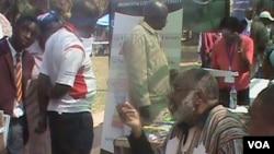 Stephen Chifunyise at the Zimbabwe International Book Fair.