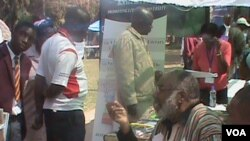 Stephen Chifunyise at the Zimbabwe International Book Fair.