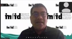 Direktur Eksekutif INFID, Sugeng Bahagijo, dalam tangkapan layar.