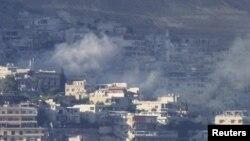忠於敘利亞總統阿薩德的部隊炮轟大馬士革週邊地區