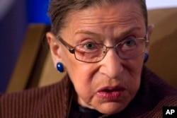 FILE - Supreme Court Ruth Bader Ginsburg