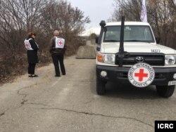 Kendaraan tim ICRC. (Foto: dok).