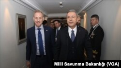 Milli Savunma Bakanı Hulusi Akar 16 Şubat'ta ABD Savunma Bakan Vekili Patrick Shanahan ile Münih Güvenlik Konferansı'nda görüşmüştü