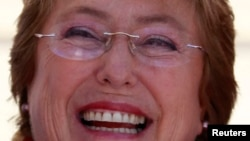 ທ່ານນາງ Michelle Bachelet ຜູ້ສະໝັກເລືອກຕັ້ງປະທານທິບໍດີ ໃນປະເທດ Chile