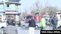 Bom bunuh diri di dekat kompleks Kementerian Dalam Negeri Afghanistan di Kabul, Afghanistan, 27 Januari 2018.