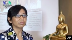 Dr. Nou Leakhena, founding director of Applied Social Research Institute of Cambodia.