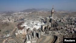 Vista aérea de Kaaba, na Grande Mesquita de Meca