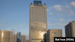 莫斯科的天然气工业公司大楼。(美国之音白桦拍摄)
