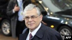 Премьер-министр Греции Лукас Пападимос. Брюссель. 30 января 2012 г.
