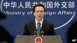 Chinese Foreign Ministry spokesman Hong Lei answers reporters' questions in Beijing, China (File)