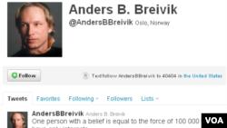 Breivik i na Twitteru