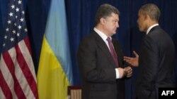Президенти США та України Барак Обама і Петро Порошенко (архівне фото)