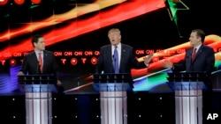 星期四晚上,美国共和党总统参选人举行辩论会。