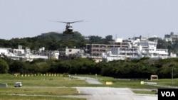 "Pangkalan udara Amerika ""Futenma"" di Okinawa (foto: dok)."