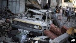 Після ізраїльського ракетного удару на місто Газа