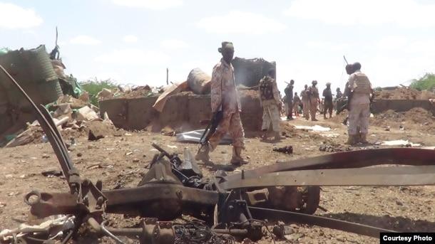 Scene of al-Shabab attack in Beledweyne, Oct. 25, Somalia 2016. (Photo: Courtesy Mohamed Osman Makaran)